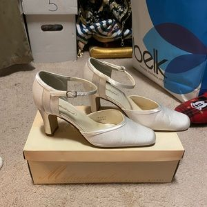 White heels from David's bridal